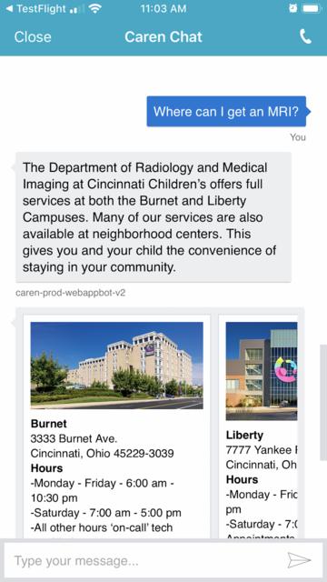 Cincinnati Children's Caren screenshot 10
