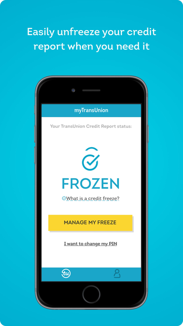 myTransUnion: Credit Freeze screenshot 3