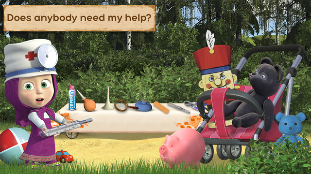 Masha and the Bear: Toy doctor screenshot 2