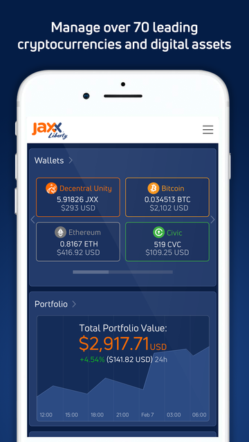 Jaxx Liberty Blockchain Wallet screenshot 56