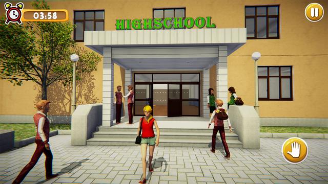School Girl Life Simulator 3D screenshot 1