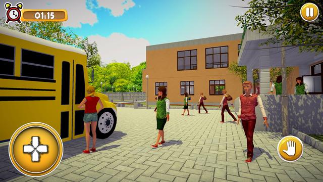School Girl Life Simulator 3D screenshot 4