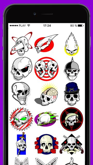 Halloween Ideas: vector skulls screenshot 1