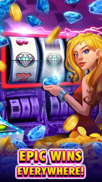 Huuuge Diamonds Slot Machine screenshot 2