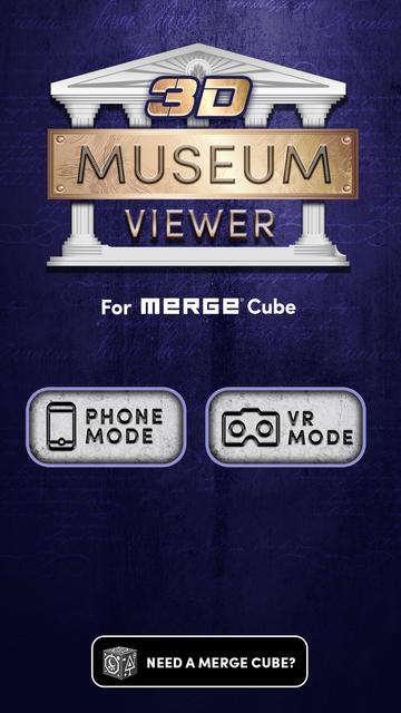 3D Museum Viewer / MERGE Cube screenshot 1