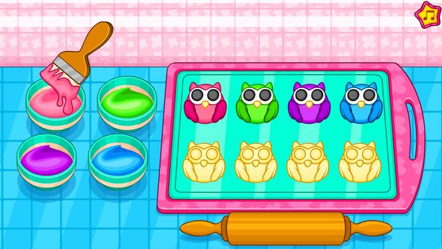 Cooking owl cookies game screenshot 14