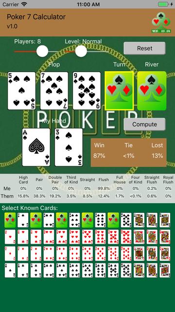 Poker 7 Calculator screenshot 2