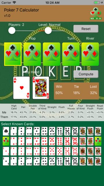 Poker 7 Calculator screenshot 1