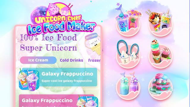 Unicorn Chef: Ice Foods Games screenshot 6