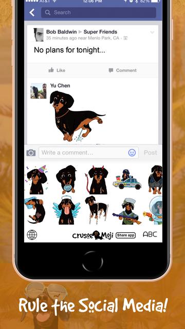 CrusoeMoji - Dachshund sticker screenshot 8
