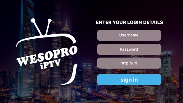 WESOPRO IPTV Player screenshot 1