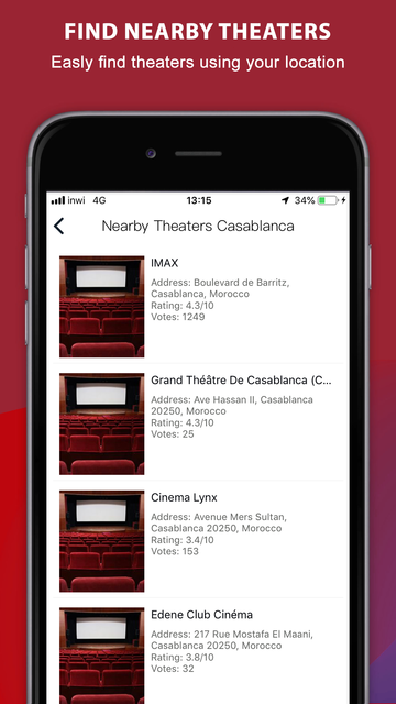 Tea TV Movies & Theater Finder screenshot 6