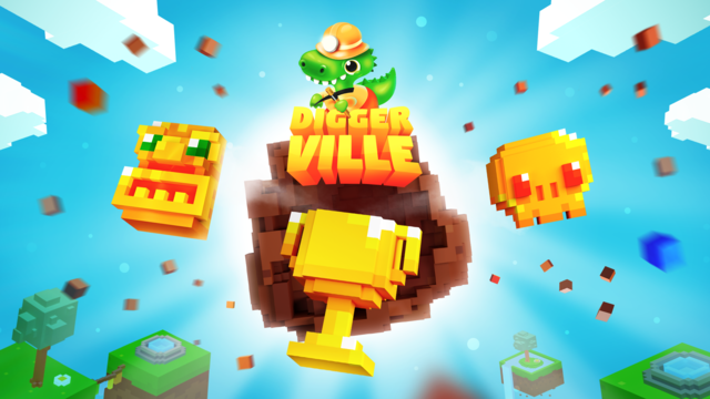 Diggerville: 3D Pixel Game screenshot 1