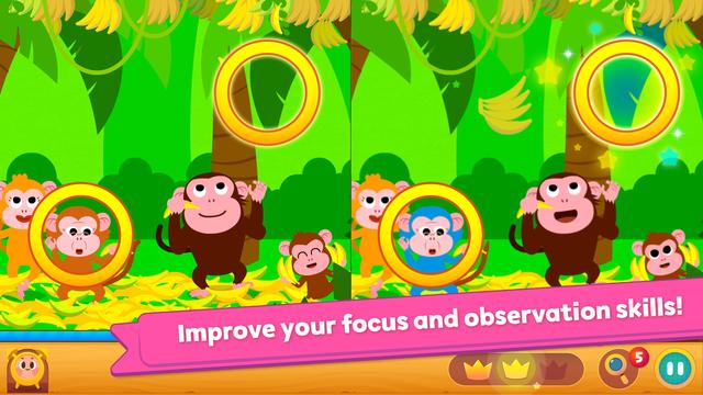 Pinkfong Spot the difference screenshot 8