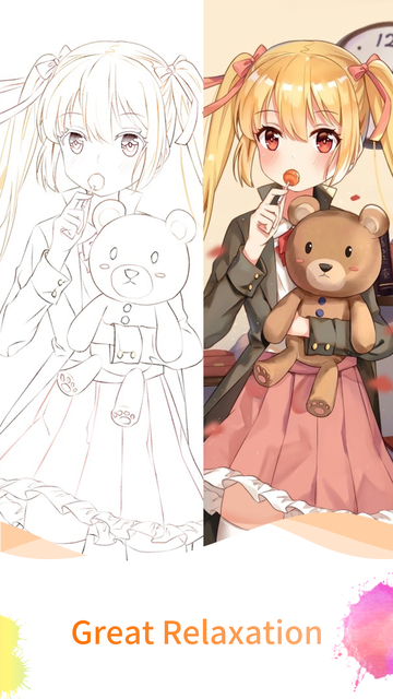 Anime Paint - Amazing Coloring screenshot 10
