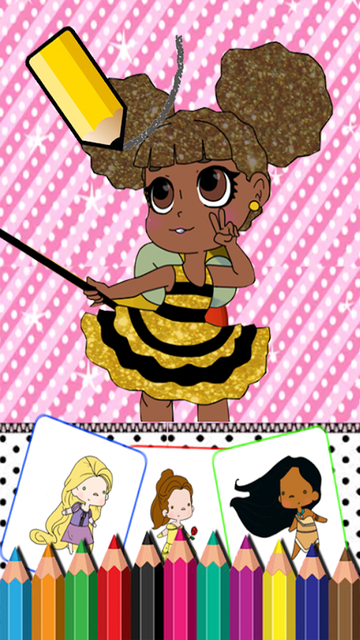 #1 Lol Dolls Coloring Book screenshot 1