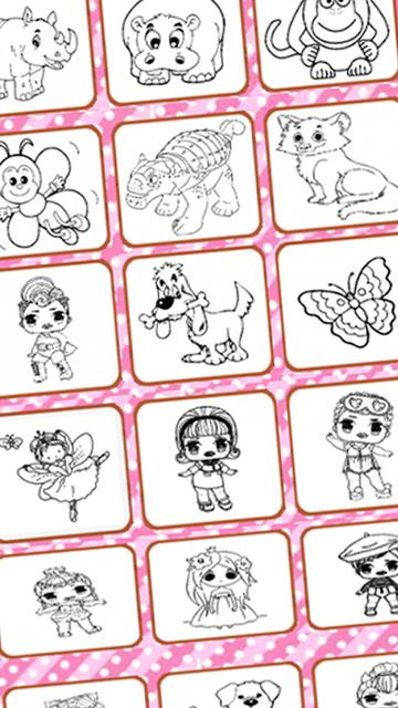 #1 Lol Dolls Coloring Book screenshot 3