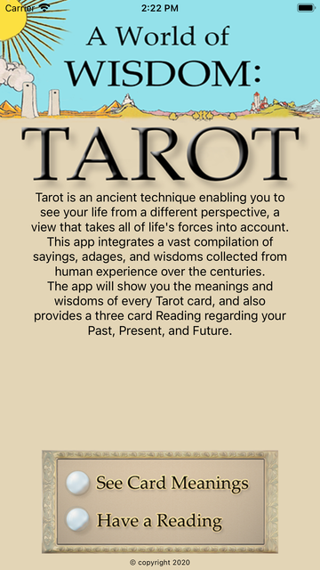 World of Wisdom: Tarot screenshot 1