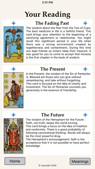 World of Wisdom: Tarot screenshot 3