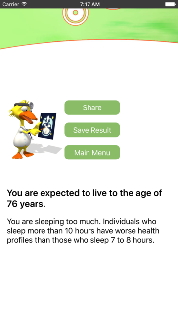 Life Expectancy - the age test screenshot 5
