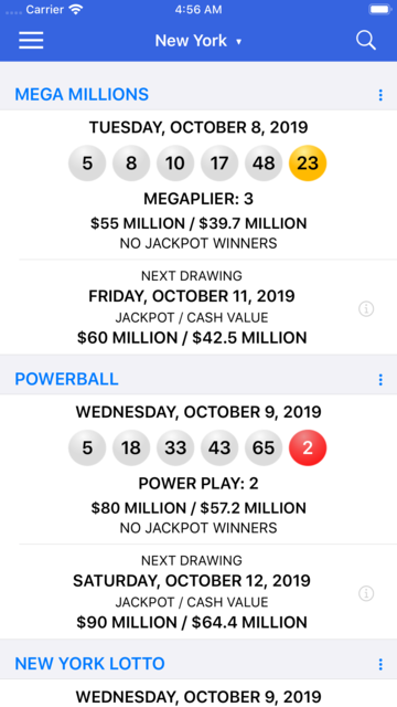 Lotto Results + Lottery in US screenshot 2