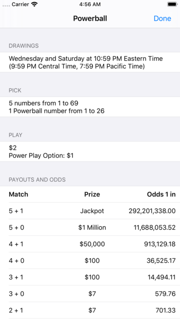 Lotto Results + Lottery in US screenshot 4