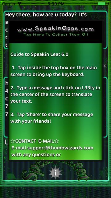 Speakin Leet screenshot 2