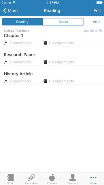 iHomework screenshot 4