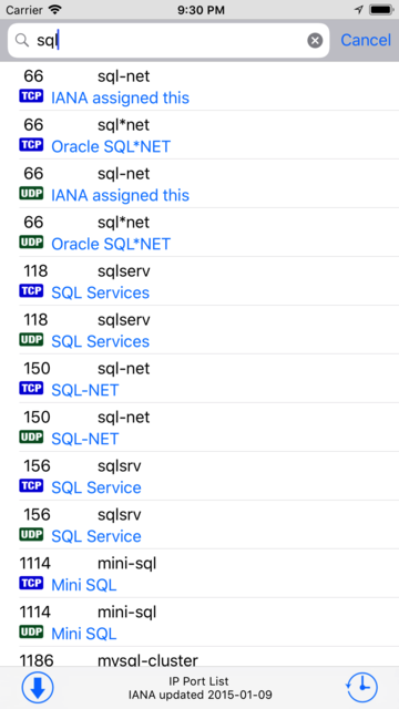 IP Port List screenshot 2