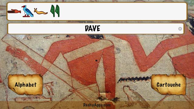 Egyptian Name in Hieroglyphics screenshot 1