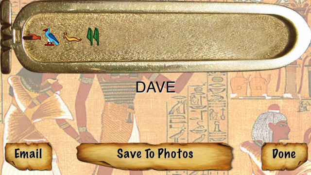 Egyptian Name in Hieroglyphics screenshot 2