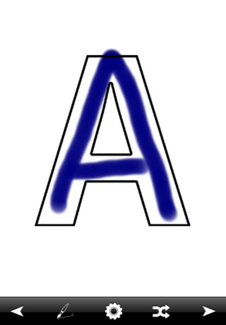 Letter Tracer preschool letters writing practice screenshot 1