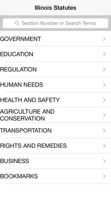 Illinois Statutes screenshot 6