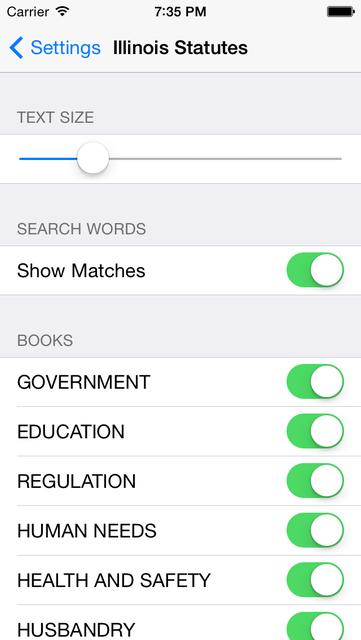 Illinois Statutes screenshot 10