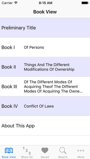 Louisiana Civil Code screenshot 1
