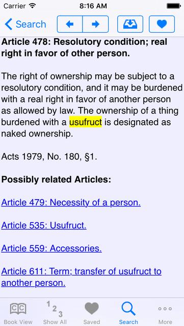 Louisiana Civil Code screenshot 3