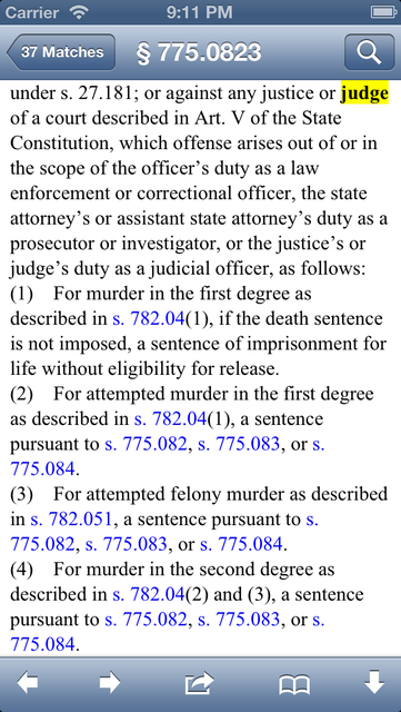 FL Criminal Code (LawStack's Florida Law/Statutes) screenshot 4