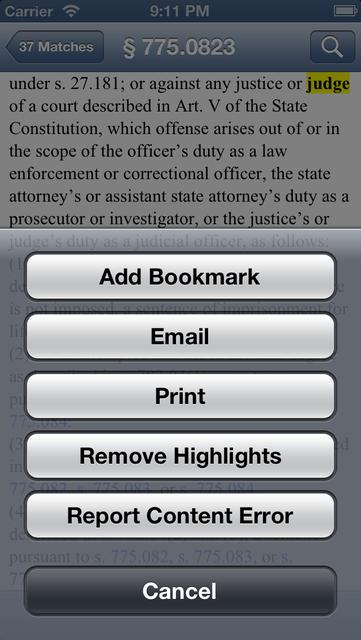 FL Criminal Code (LawStack's Florida Law/Statutes) screenshot 5