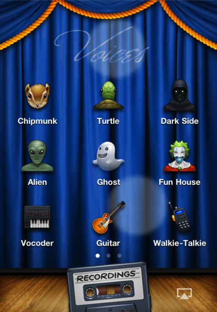 Voices 2 ~ fun voice changing! screenshot 1