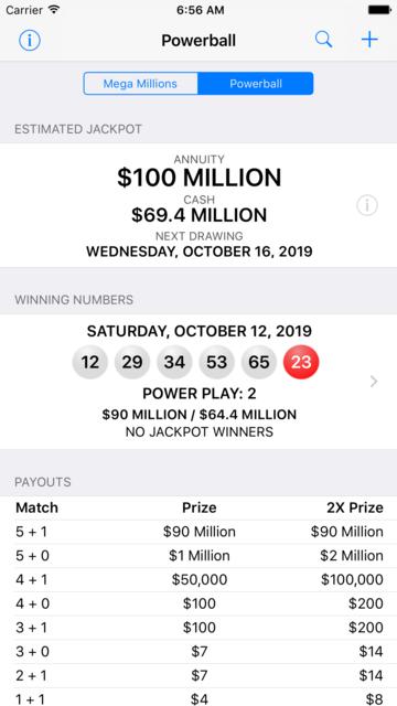 Mega Millions + Powerball screenshot 1
