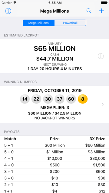 Mega Millions + Powerball screenshot 2