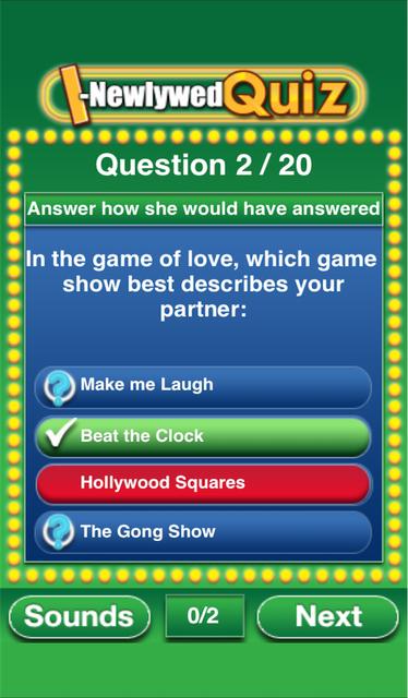 The I-Newlywed Quiz screenshot 6