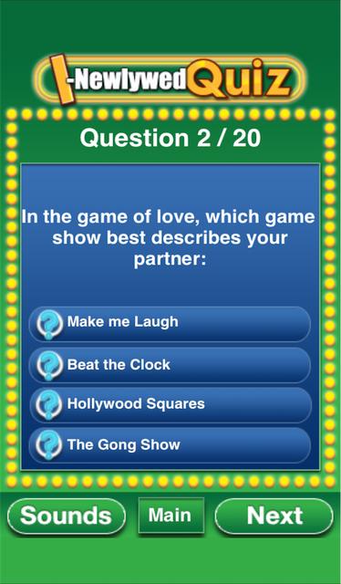 The I-Newlywed Quiz screenshot 7