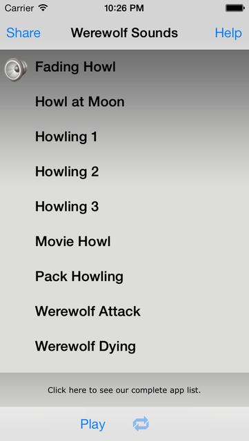 Werewolf Sounds screenshot 1