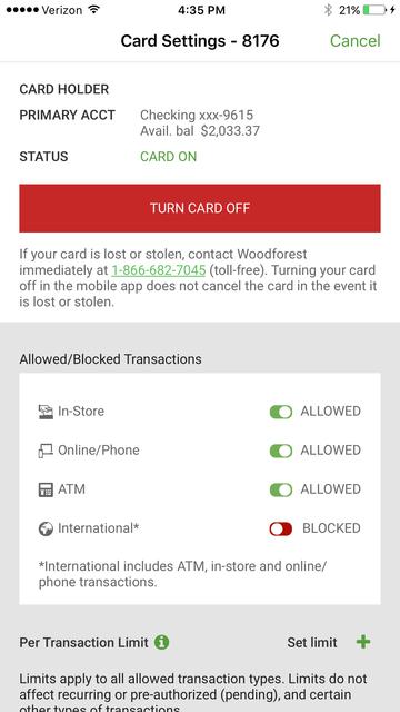 Woodforest Mobile Banking screenshot 11
