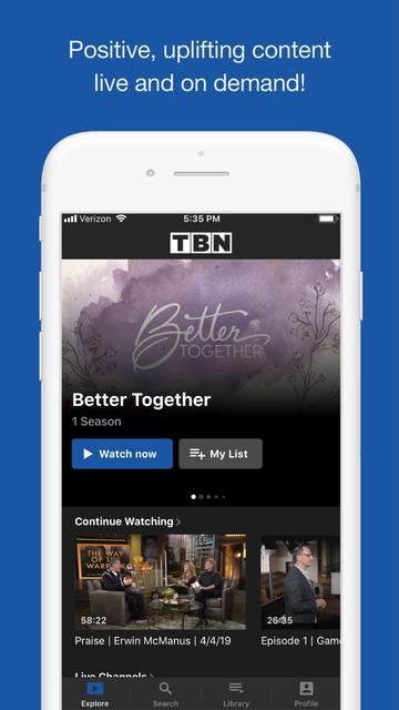 TBN: Watch TV Live & On Demand screenshot 7