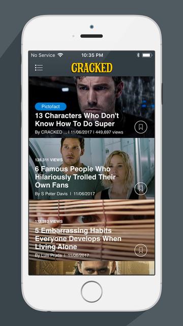 The Cracked Reader screenshot 1
