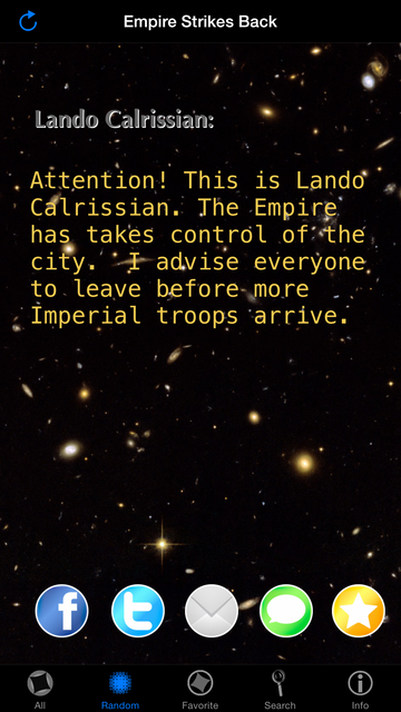 Quotes for Star Wars screenshot 18