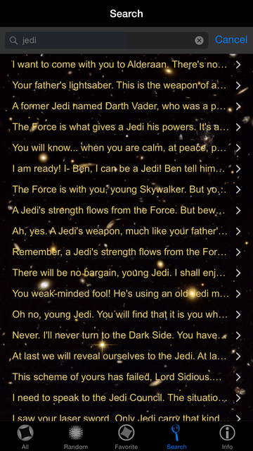 Quotes for Star Wars screenshot 20