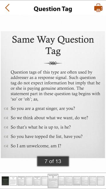Grammar Express: Question Tag screenshot 3